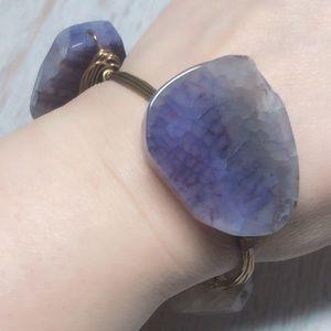 Stunning Natural Amethyst Stone Bracelet
